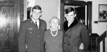 "Leo Vecellio, Jr., and Enrico ""Ricky"" Vecellio with their grandmother Anna Vecellio. In a tragic blow to the family, Ricky died of cancer at age 18 in 1971."