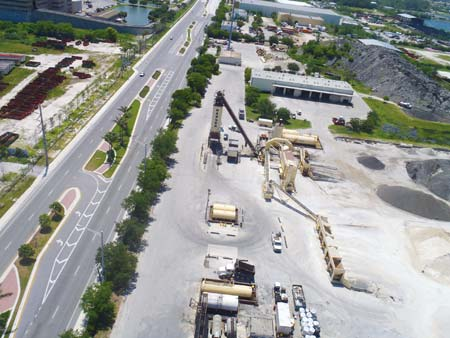 Ranger Construction operates seven asphalt plants strategically located throughout its market areas in Florida. Below is the Pompano Beach asphalt plant. (Photo by Ground Escape, LLC)