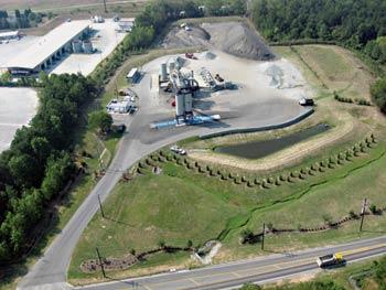 One of Sharpe Bros. two asphalt plants in Greensboro, NC.