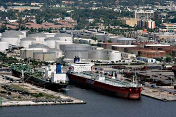 Vecenergy's petroleum offloading facilities at Port Everglades in Ft. Lauderdale, FL. The division also builds and operates port terminals and biodiesel production plants, among other ventures.