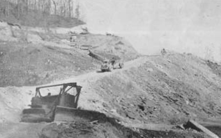 V&G crews build a nine-mile section of Route 16 between Welch and Pineville, W. Va., circa 1948.