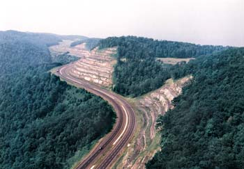 Vecellio & Grogan built a complex US-19 highway project on Powell Mountain in West Virginia in the 1990s.